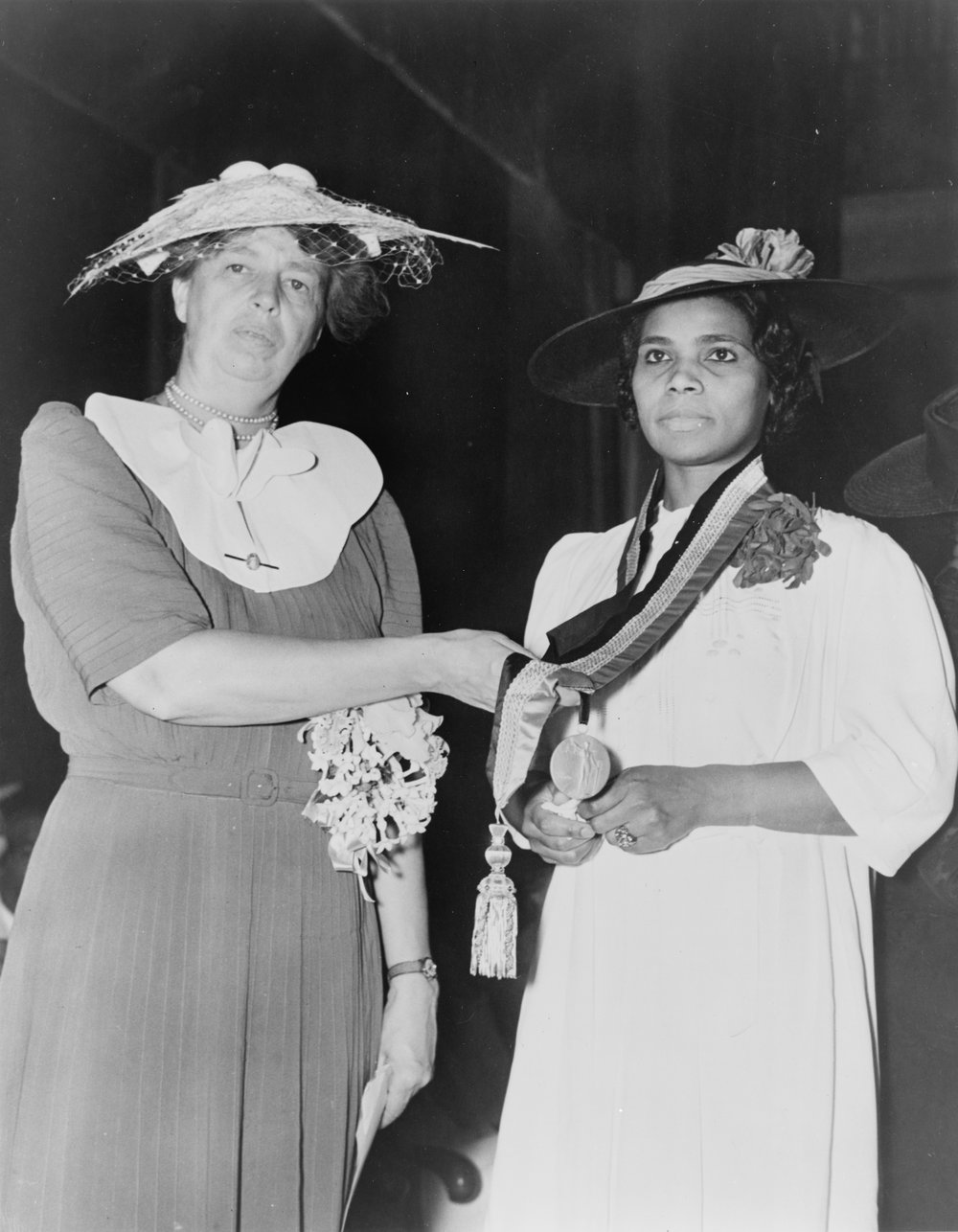Eleanor and Marian Anderson. Photo courtesy of fdr4freedoms.org