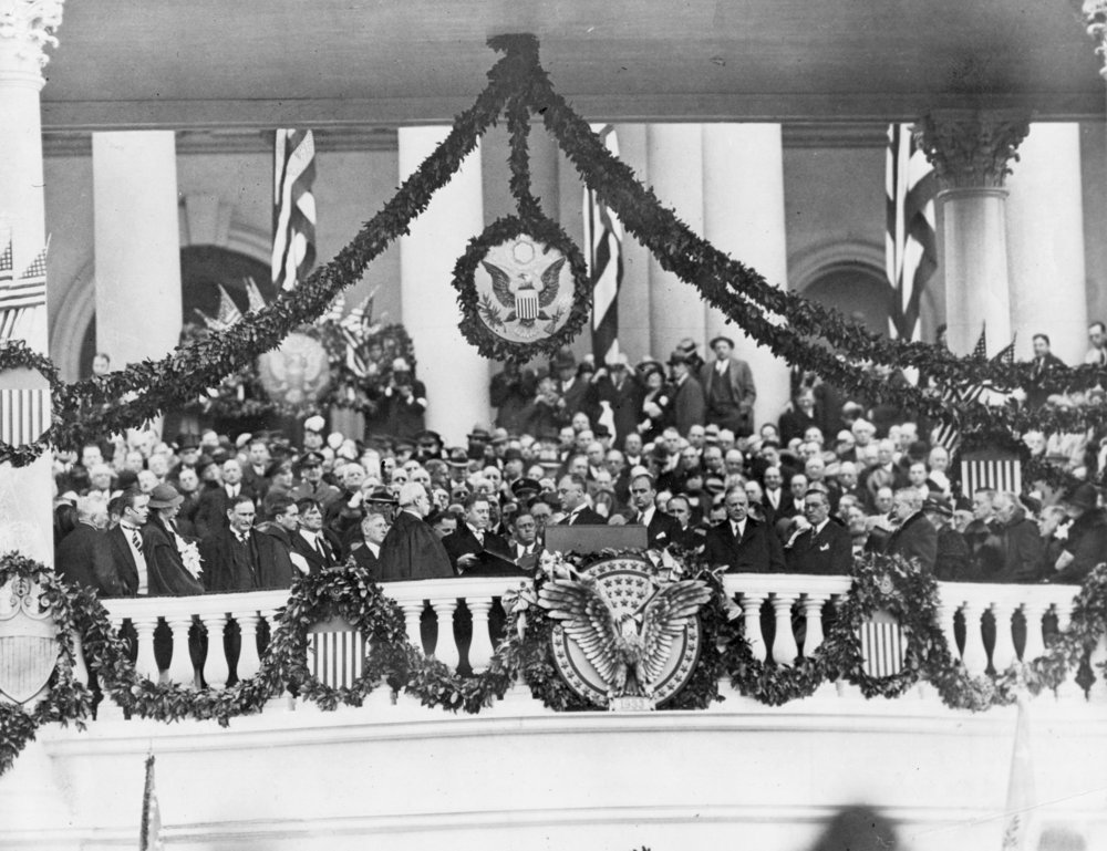 President Roosevelt taking the oath of office for the first time. Image courtesy of the National Archives.