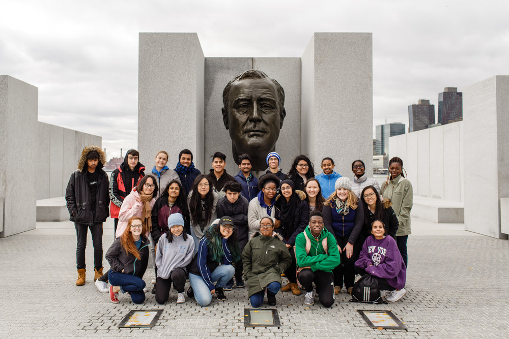 Student Visitors on the First Freedoms Tour