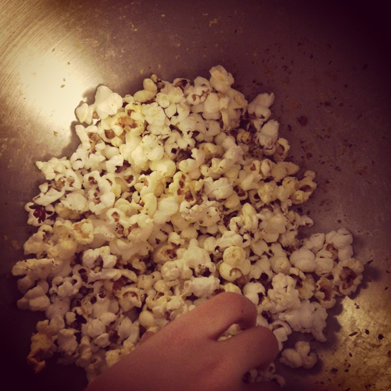 popcorn with butter and veggie powders