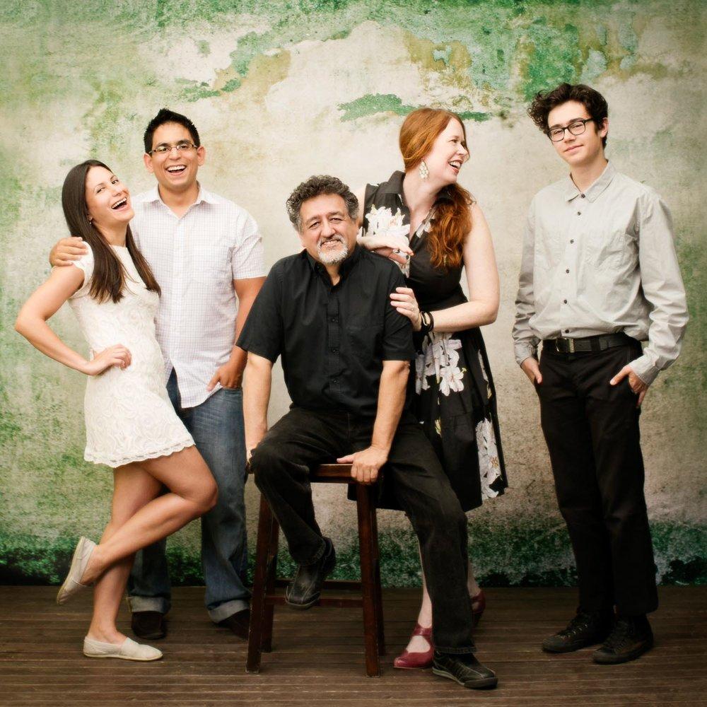 Portland Realtor® Francisco Salgado with his wife Kim Campbell, Paulina, Roberto and Tamaio