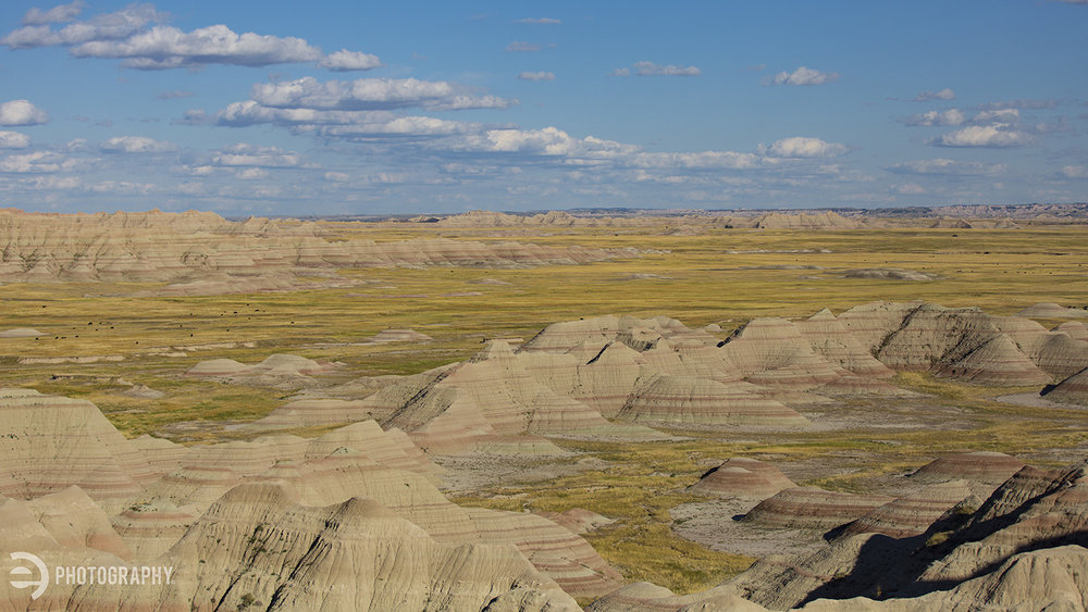Ahhhh. The long day in the car finally pays off as you look across the eastern part of the Badlands National Park.