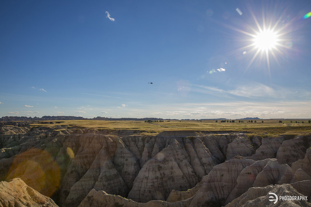 Day Two started off with a quick helicopter flight over the eastern part of the Badlands.
