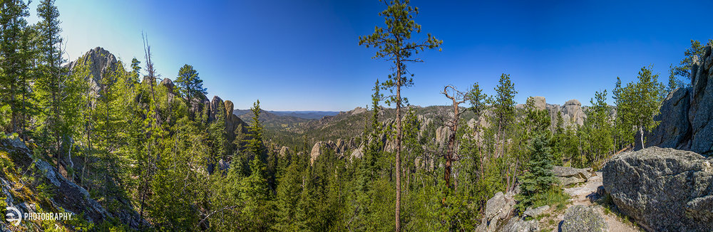 A panoramic view of the Black Hills. A good end to our Day Two travels.