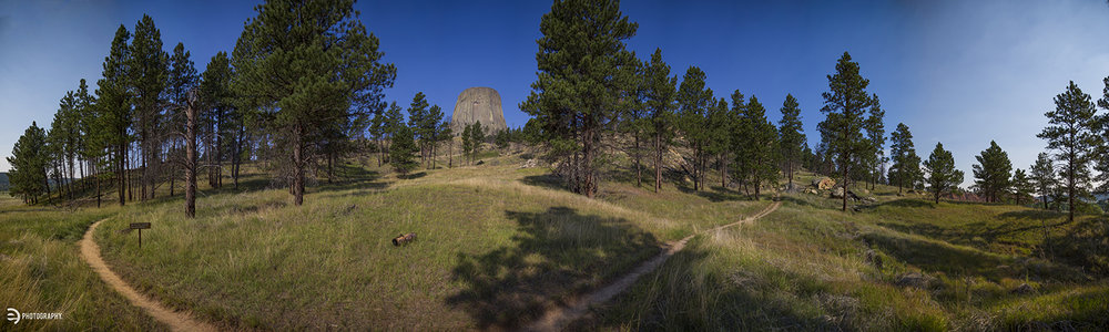 A view from the Red Beds Trail around the backside of Devils Tower.