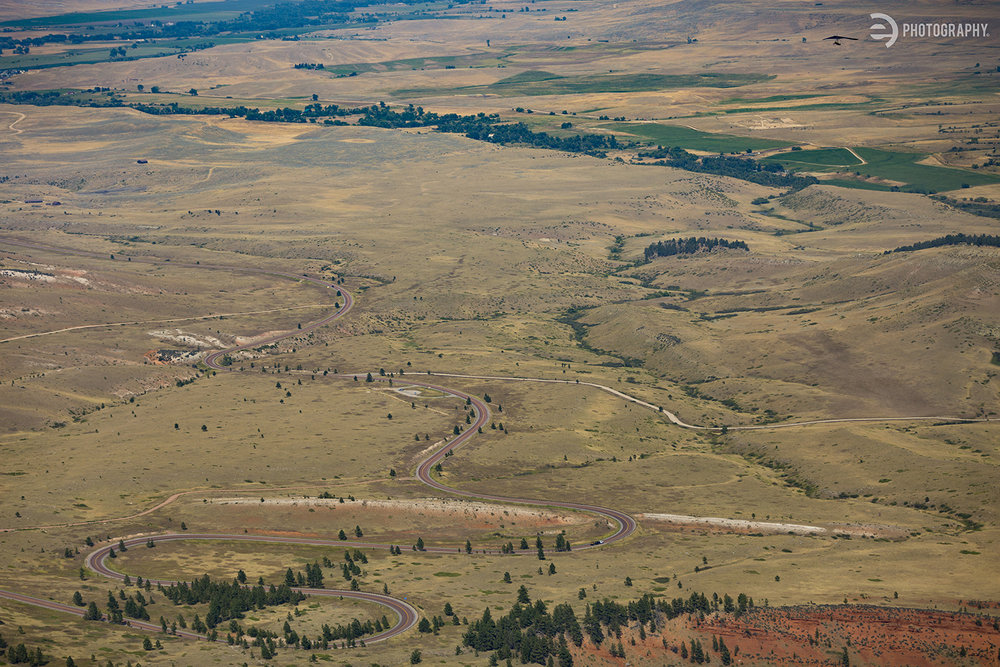 A little wider view so you could see how vast the lowlands are before you hit the Bighorns.