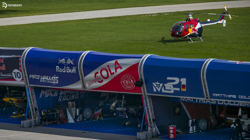 The helicopter coverage of the races was incredible! The rotary pilots deserve their due during the Red Bull Air Race too!