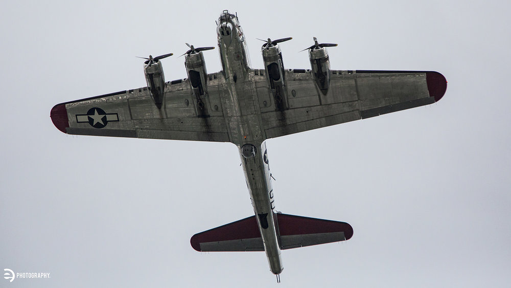 A B-17 Bomber fly-over!