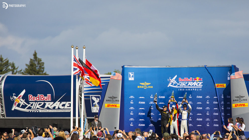 The winners podium. Congrats to Matthias Dolderer!
