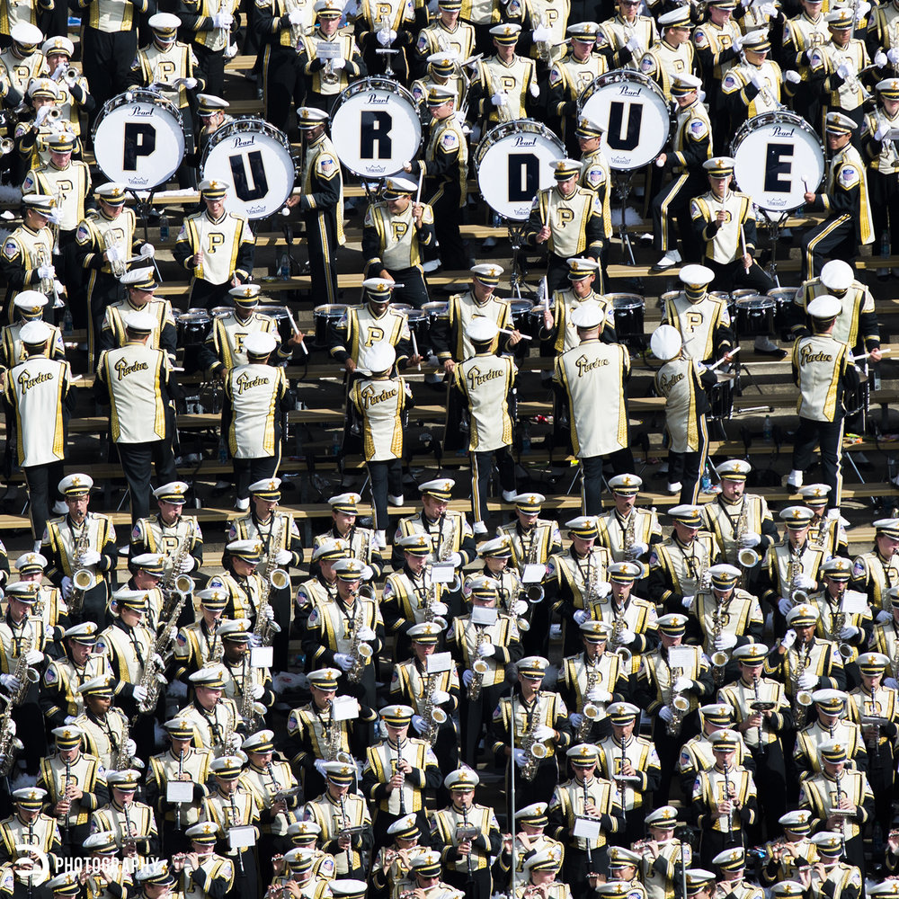 The pride of Purdue and Ross-Ade Stadium - the Purdue Marching Band!