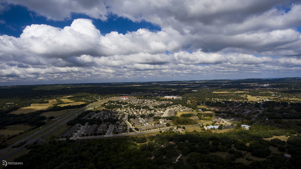 This view is north of Boerne, TX (Pronounced Bernie) looking toward Hill Country.