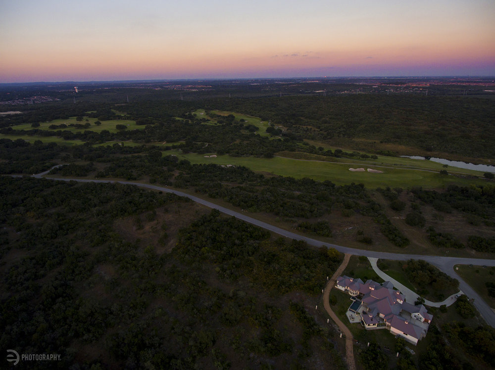 I was lucky enough to have access to the interior of this San Antonio home, west of the outer loop, to shoot some photos for an upcoming magazine at work. The aerial drone photos were able to capture the sunset and the beautiful surroundings.