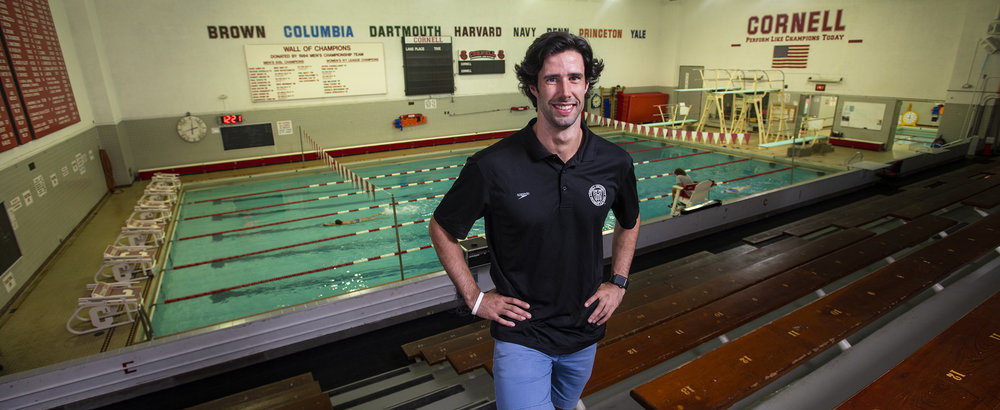 New swimming & diving coach portrait.