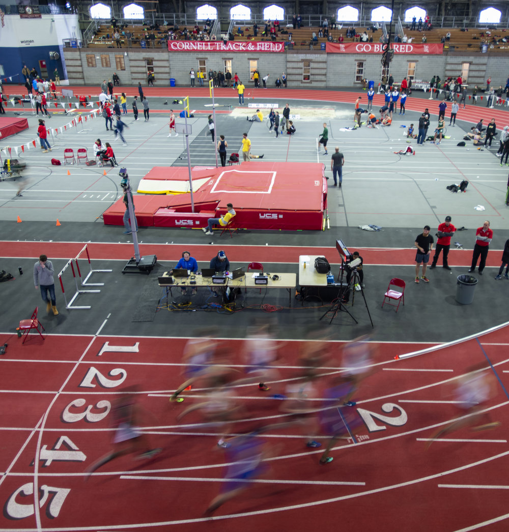 It was a fast day on the track in Barton Hall.