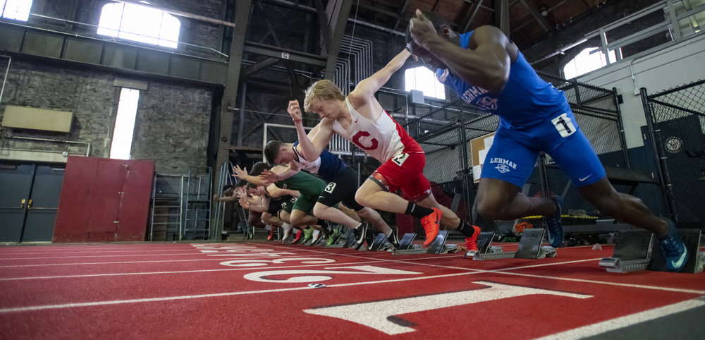 Another low-angle race start, this time for the 60m race.