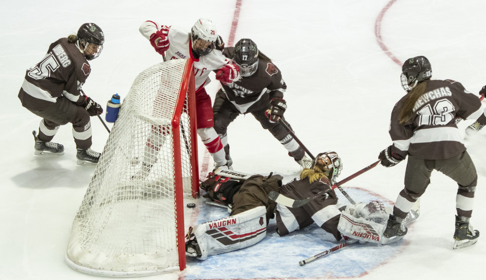 The puck never fully crossed the line for a goal, but it was a worthy effort from both teams.