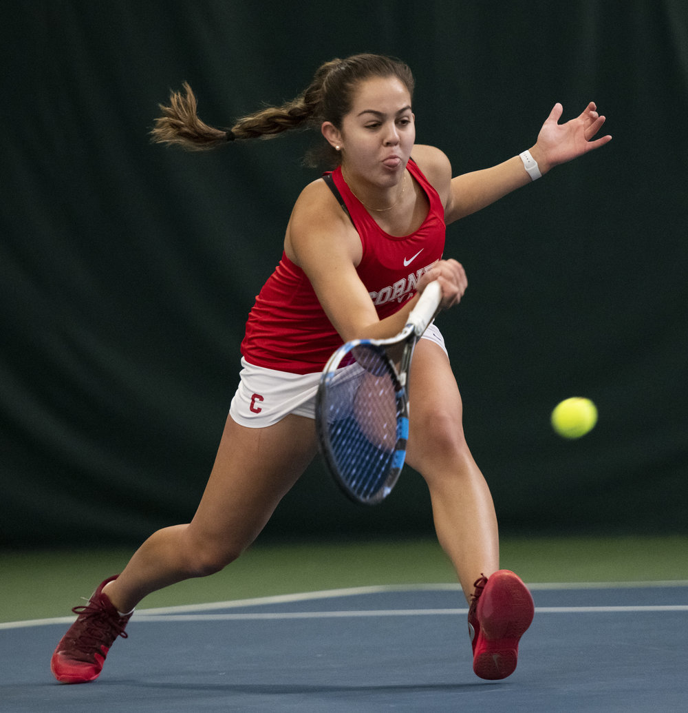 I had the fortune of spending a couple hours filming and photographing our women's tennis team on Sunday. They battled hard against Colorado and came up with an awesome 4-3 win! #YellCornell