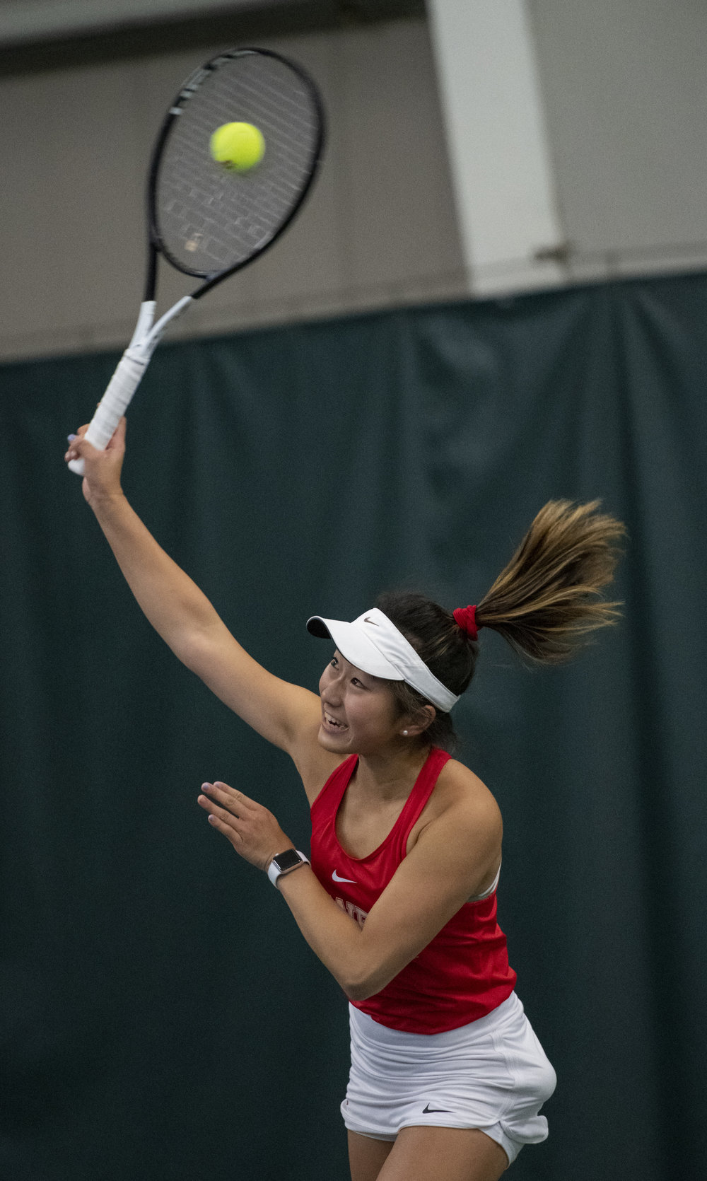 I shot for roughly two hours and I'm pretty sure this is the only ball-on-racket photo of the day.