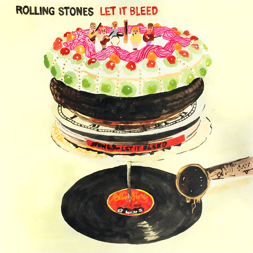 Record Reverie The Rolling Stones Let It Bleed Ngaio Parr Illustration