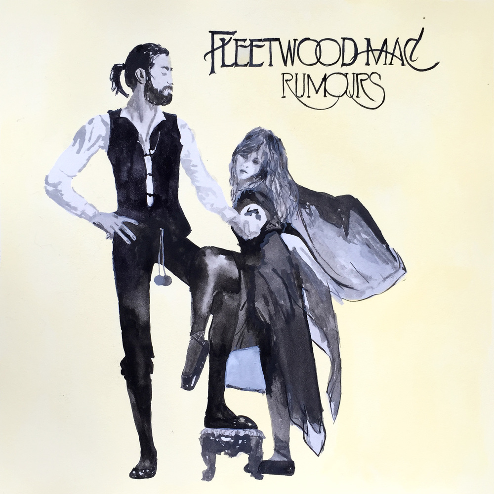 Record Reverie Illustration Ngaio Parr Fleetwood Mac Rumours