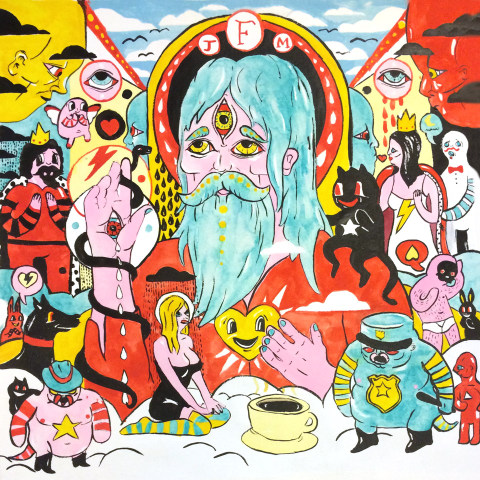 Record Reverie Illustration Ngaio Parr Father John Misty Josh Tillman Fear Fun