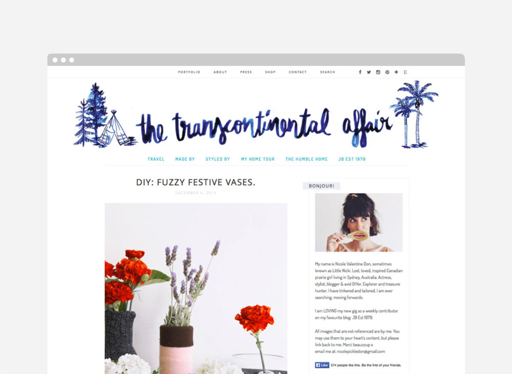 The Transcontinental Affair Ngaio Parr Header Blog Design Ink Lettering