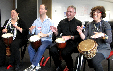 'Nourish' Team Drumming Session