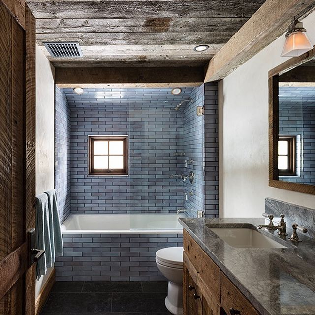 An unexpected pairing: deeply worn wood with Frost tiles. Design: @clbarchitects. 📷: Paul Warchol