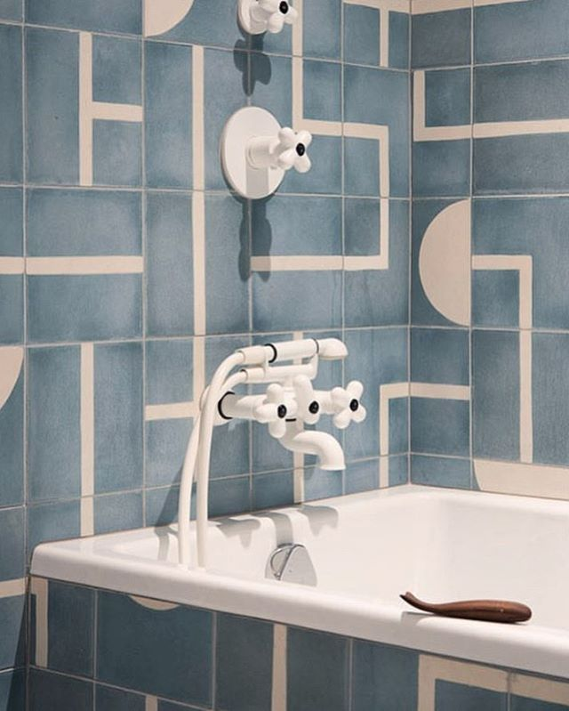 A secret tile language. Design: @elizabeth_roberts_architecture. 📷: @dustinaksland