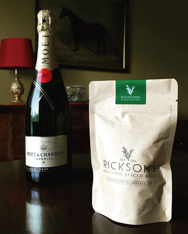 How Rickson's do Mondays  #monday #ricksons #nuts #champagne #moet #moetchandon #cocktailhour #knutsford #cheshire #mobberley