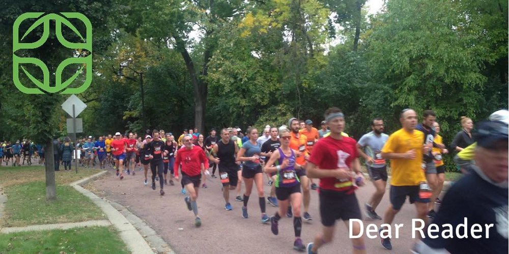 """- A link to """"Don't Lose Hope,"""" a wonderful song by my friend Ben Tucker, and thoughts on the pleasures and sorrows of work and the Twin Cities marathon. (click linked photo)"""