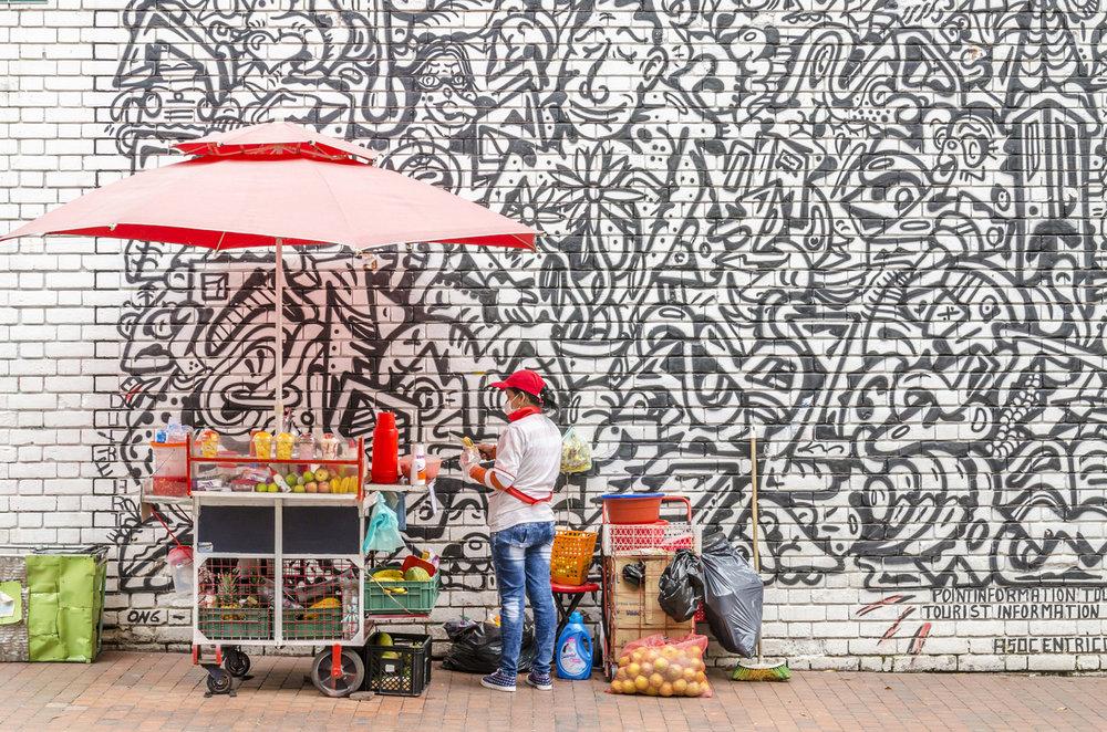 Street Vendor selling Fruit