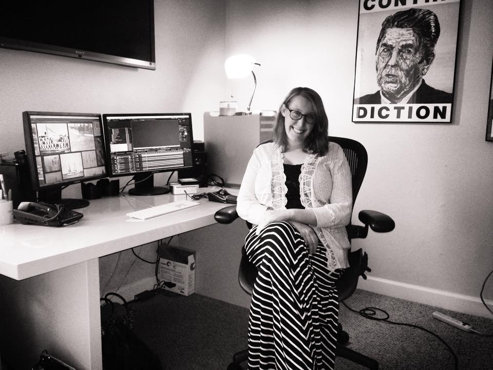 This is me on my last day working at  Planet Vox  in DC. I'll miss that edit bay!