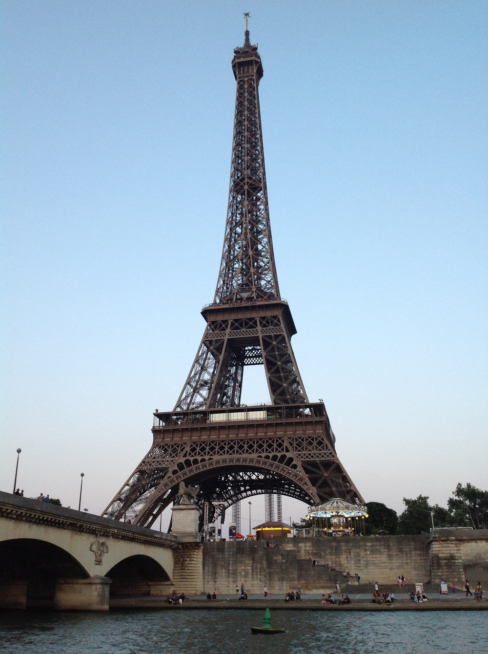 Cruising by Le Tour Eiffel at Dusk.