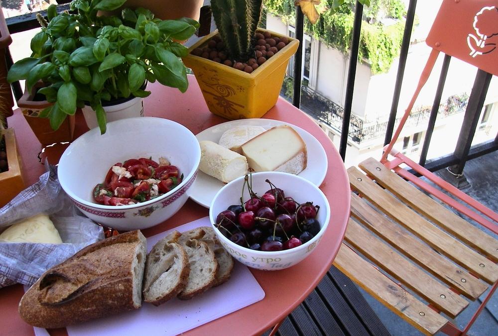 Balcony picnic