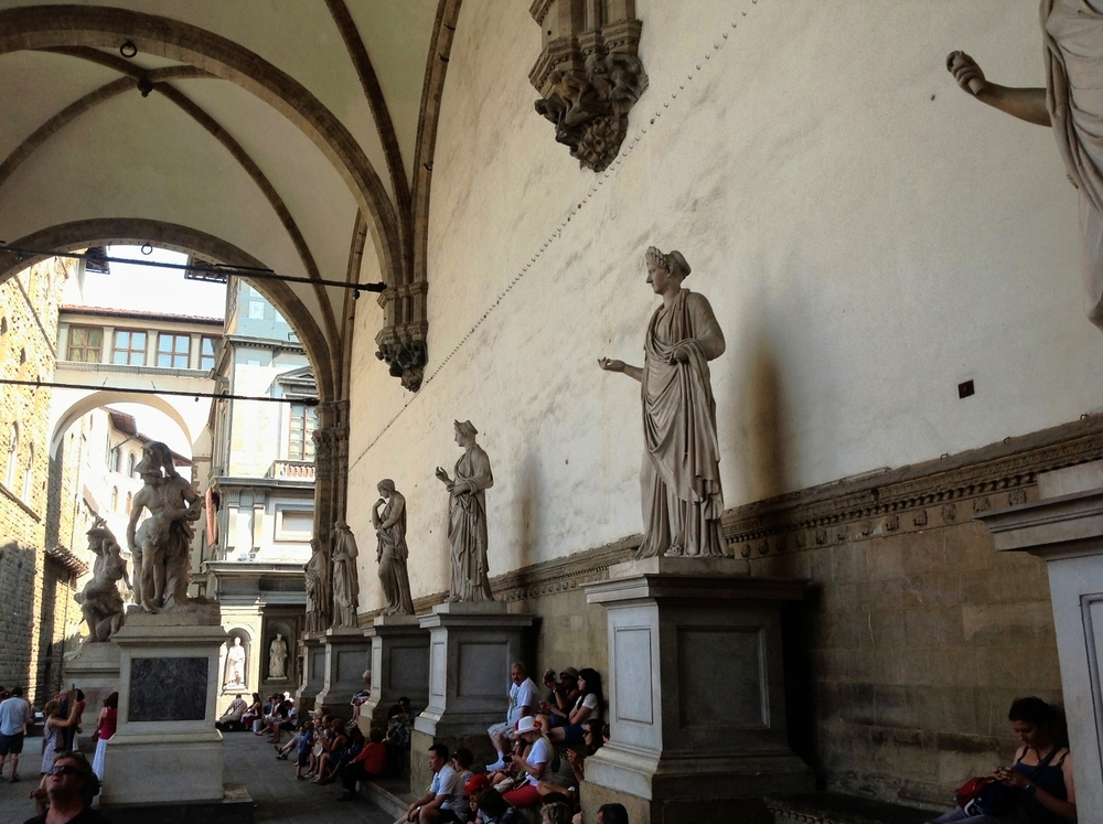 Scuptures in the Loggia dei Lanzi