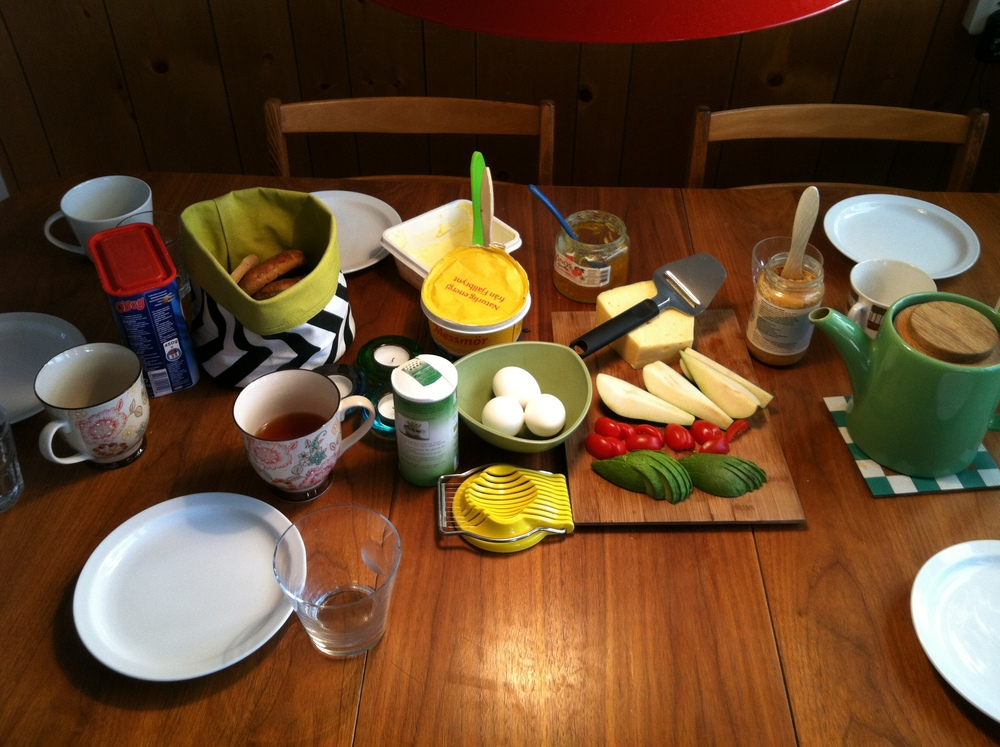 Just an average, colorful Swedish  Frukost  (breakfast)