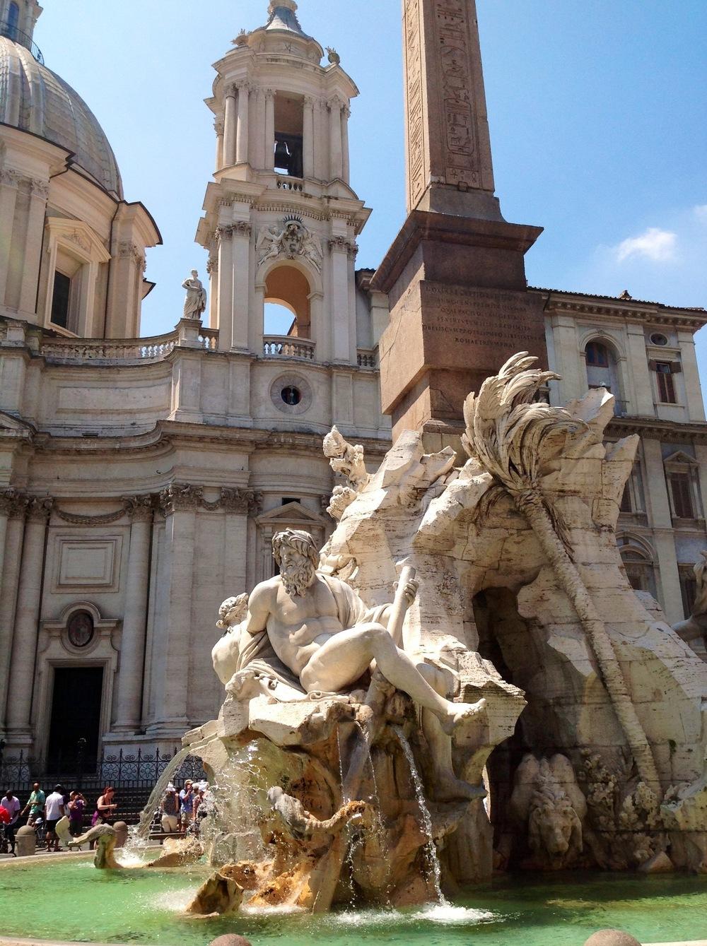 Bernini'sFontana del Quattro Fiumi