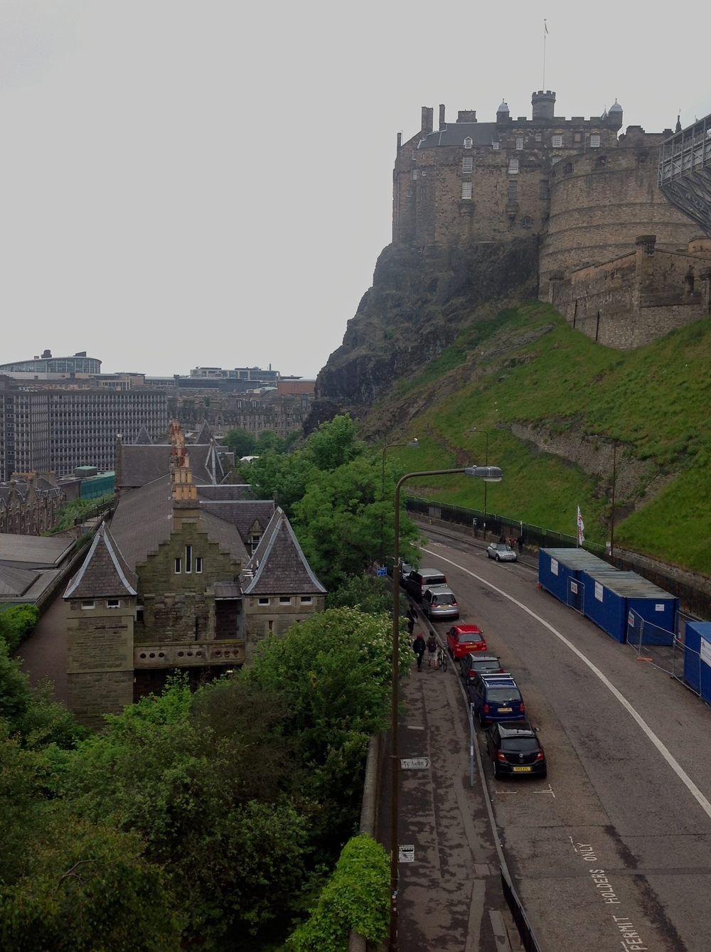 EDINBURGH CASTLE, shot from our window!
