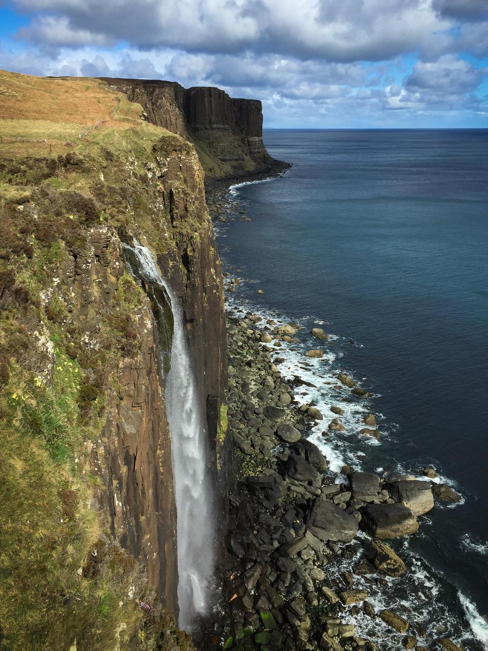 Mealt Falls, on the northeast coast of the Isle of Skye's Trotternish Peninsula