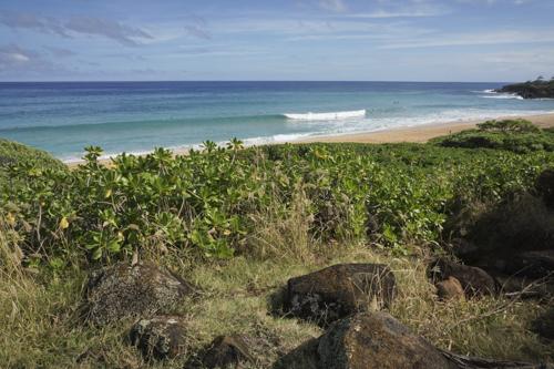 View of Donkey Beach from the Kapa'a Multi-Use Path (The Ke Ala Hele Makalae Path)