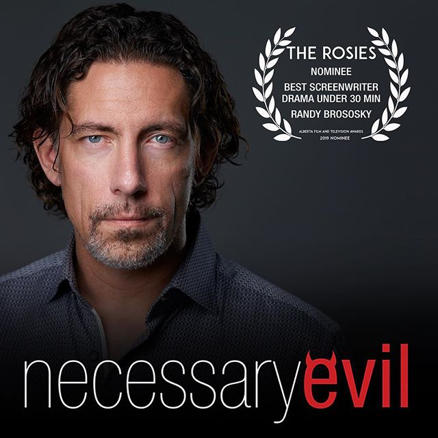 Words words words. Written by @randwulven the words in Necessary Evil also earned us a Rosie nomination for screenwriting from @yourampia  #necessaryevilseries #teamevil #yeg #yegfilm #rosies