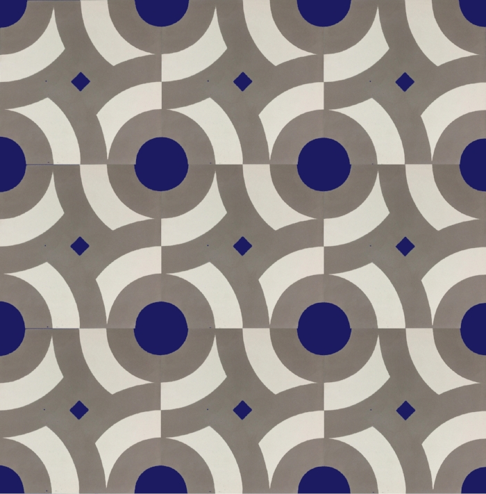 Floor tiles inspired by historic exterior