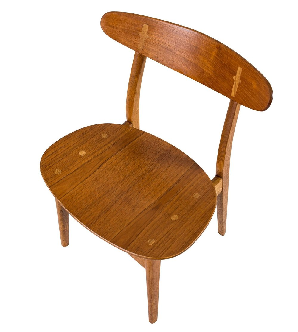 Set Of Eight Hans Wegner CH 30 Dining Chairs