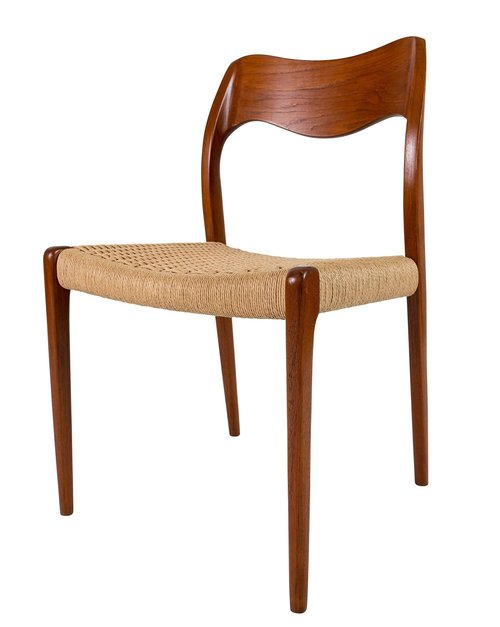 set of eight teak niels moller 71 dining chairs denmark 50