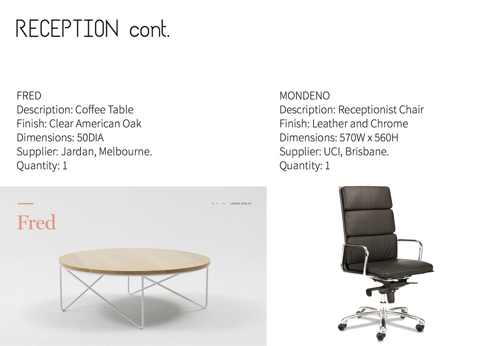 Furniture Schedule DESIGN Portfolio