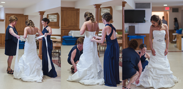 Heidi's gorgeous wedding gown fit like a glove and suited her so well!