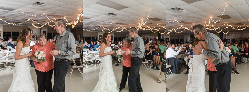 In lieu of a garter and bouquet toss, Heidi and Jake opted for a generation dance where Heidi gifted the longest married couple her bouquet she made by hand! It's always a favorite of mine!