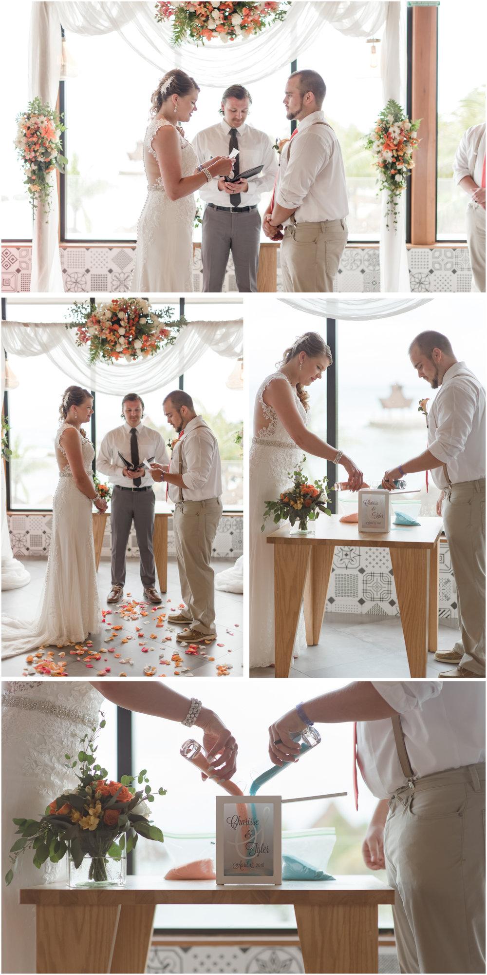 sand ceremony at a destination wedding