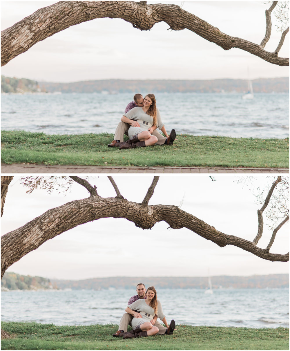 engagement photos in front of geneva lake